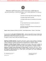 Nota MIUR Organico di diritto 2015-2016