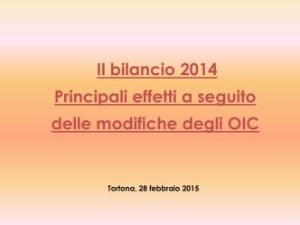 bilancio 2014 - Ordine dei Dottori Commercialisti e degli Esperti