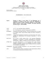 Richiesta di offerta ai sensi dell`art. 27 del Regolamento per le