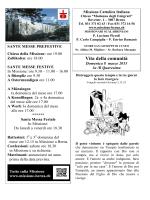 Vita della comunità - Missione Cattolica Italiana Berna