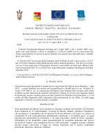 BUONO SOCIO SANITARIO anno 2015 in favore di nuclei familiari