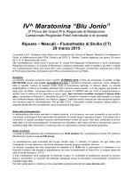 """29 Marzo 2015 Riposto - IV° Maratonina """"Blu Jonio"""""""