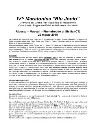 29 Marzo 2015 Riposto - IV° Maratonina