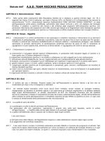 Statuto dell` A.S.D. TEAM VECCHIO PEDALE ISONTINO
