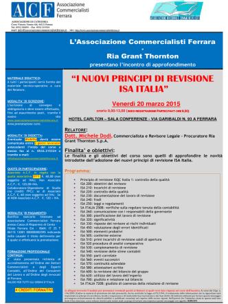 Convegno Ferrara 20.03.2015 - Associazione Nazionale