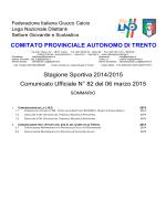 C.U. n°82 del 06/03/15 Stag. 2014/2015