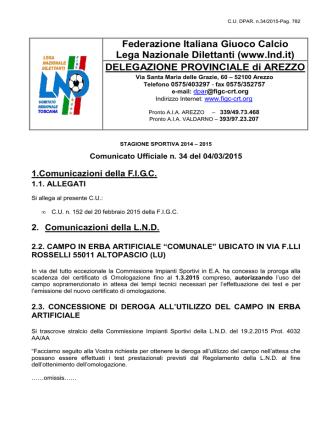 CU.DPAR n.34 - Figc - Comitato Regionale Toscana