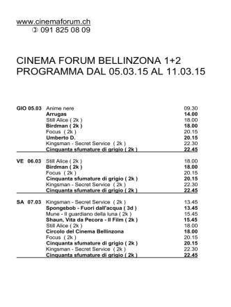 CINEMA IDEAL GIUBIASCO 1+2