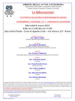 LA MEDIAZIONE: - Ordine degli Avvocati di ROMA