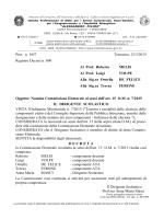 Nomina Commissione Elettorale ai sensi dell`art. 15 O.M. n. 7/2015