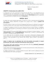 Lettera e recapiti - CAF UIL del Trentino