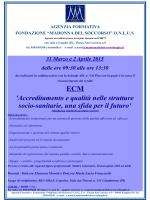 `Accreditamento e qualità nelle strutture socio-sanitarie