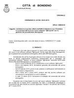 CITTÀ diBONDENO - Comune di Bondeno