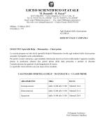Sportello Help – Matematica – Classi prime