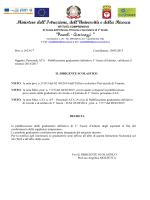 decreto di pubblicazione graduatorie