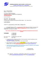 Test valutazione regionale - Sez. GAM