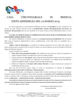 Casa Circondariale di Brescia – esito assemblea con il