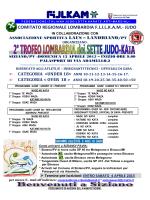 Locandina Informativa Stage & Gara dei Sette Judo