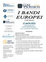 Locandina Convegno bandi europei Vicenza 17