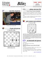 n. 1426 - Venerdì, 27 Marzo 2015 - Federazione Scacchistica Italiana