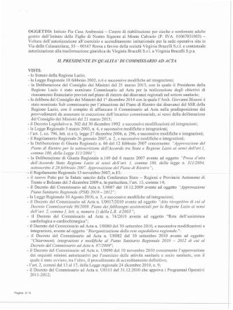 Decreto n. U00125 del 27/03/2015
