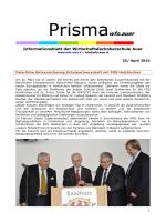 NEU: Infoblatt PRISMA April - Wirtschaftsfachoberschule Auer