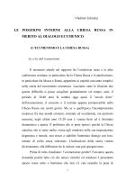 L'ecumenismo e la Chiesa Russa (Torino 3-6-09) di Vladimir Zeliskij