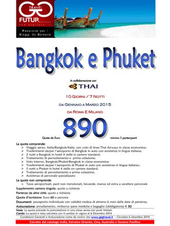 BANGKOK  E  PHUKET - gennaio-marzo 2015