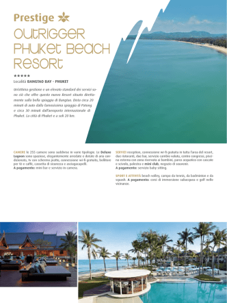 54-55 Outrigger Phuket Beach Resort Bangtao Bay - Phuket