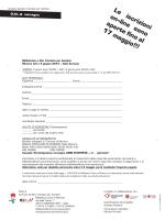 Foglio di collegamento Marzo 2015