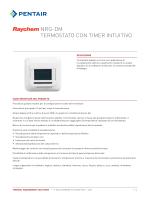 NRG-DM Schede tecniche - Pentair Thermal Controls