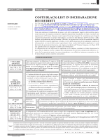 COSTI BLACK-LIST IN DICHIARAZIONE DEI REDDITI