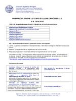 IMMATRICOLAZIONE AI CORSI DI LAUREA MAGISTRALE A.A.