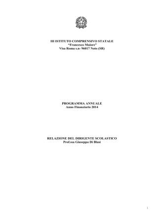2014000028-Relazione DS al Programma annuale 2014