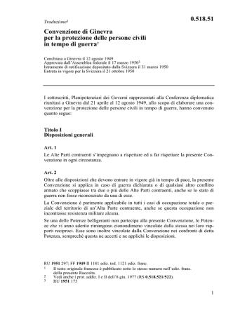 Convenzione di Ginevra per la protezione delle persone