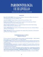 PARODONTOLOGIA I E II LIVELLO - Dipartimento di Scienze