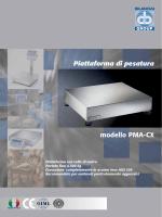 Piattaforma di pesatura modello PMA-CX