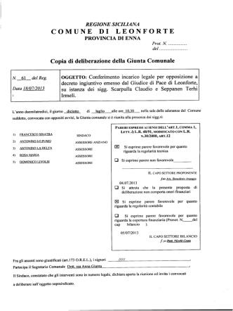 Conferimento incarico legale per opposizione a decreto ingiuntivo