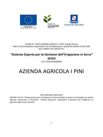 AVVISO N° 1/2014 AZIENDA AGRICOLA