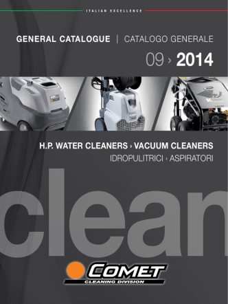 09/2014 cleaning general catalogue / catalogo
