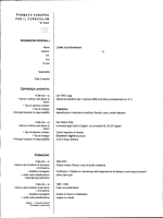 FORMATO EUROPEO PER IL CURRICULUM VITAE Fax