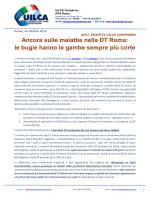 Ancora sulle malattie nella DT Roma: le bugie