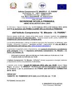 iscrizioni Scuola Primaria G Minzele