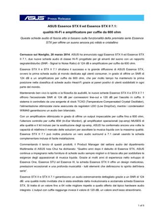 ASUS Essence STX II ed Essence STX II 7.1: qualità Hi