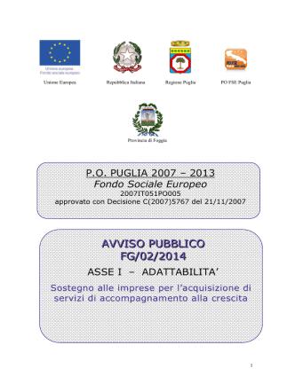 AVVISO PUBBLICO FG/02/2014