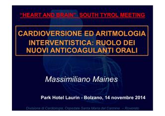 CVE e aritmologia interventistica: ruolo dei nuovi anticoagulanti orali