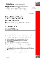 egzamin maturalny z języka włoskiego poziom rozszerzony