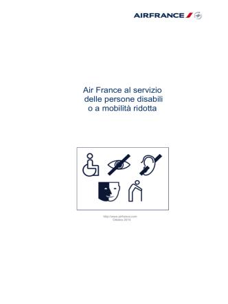 AIR FRANCE AU SERVICE DES PERSONNES HANDICAPEES