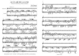 Au Clair ..per cl. e piano.mus