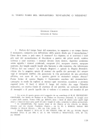 I L TEMPO FUORI DEL MONASTERO: TENTAZIONE O MISSIONE